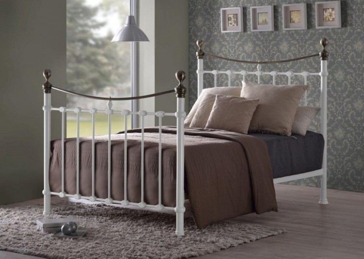 Time Living Elizabeth White 5ft Kingsize Metal Bed Frame By Time Living