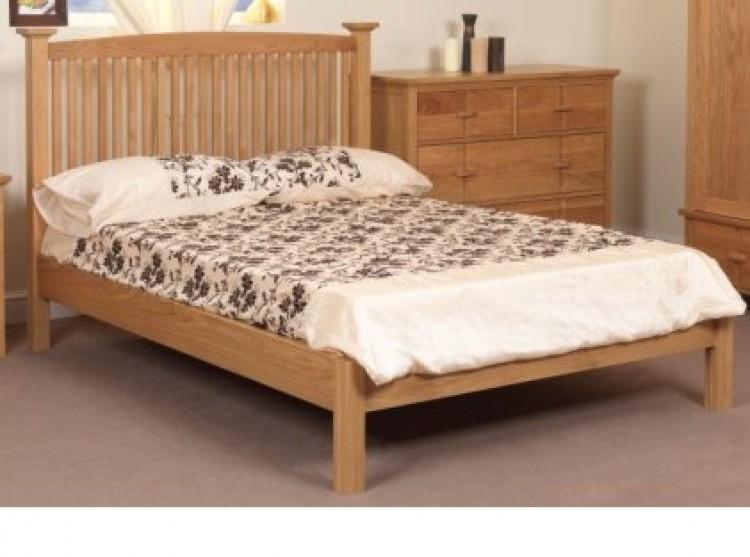 sweet dreams wren 4ft 6 double solid oak bed frame. Black Bedroom Furniture Sets. Home Design Ideas