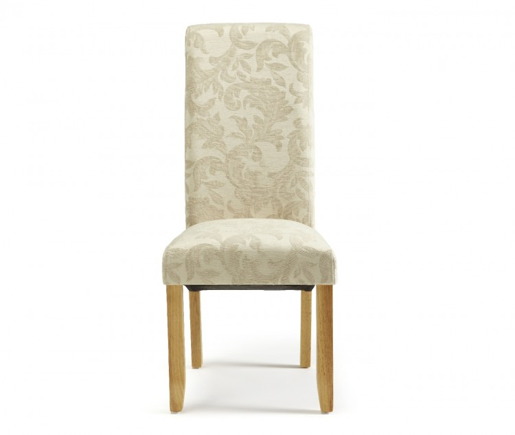 Fabric Dining Chairs With Oak Legs Pair Show More Information