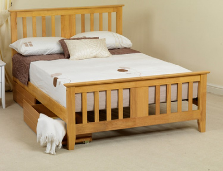 Sweet Dreams Kestrel 5ft King Size Oak Wooden Bed Frame
