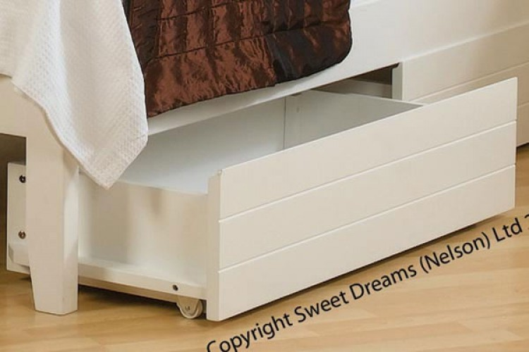 Sweet Dreams White Painted Finish Under Bed Drawers 2