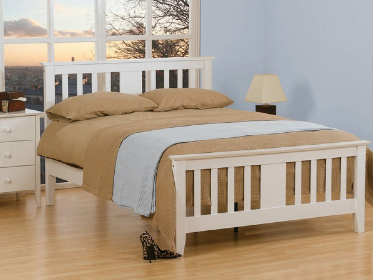 buy popular 8a3fd e5474 Sweet Dreams Kestrel 4ft Small Double White Wooden Bed Frame