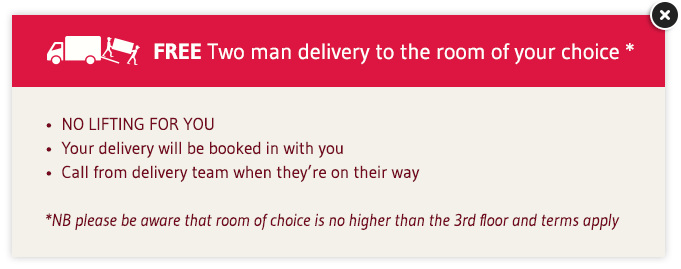 Free Two-man divan delivery